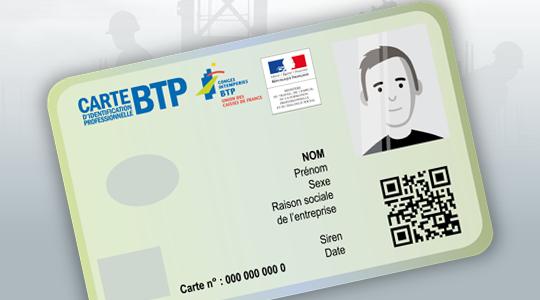 carte d'identification BTP
